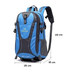 Image 2 - 35L Männer Nylon Wasserdicht Unisex Outdoor Bergsteigen Wandern Klettern Camping Rucksäcke sport Unisex taschen reisetasche für männliche