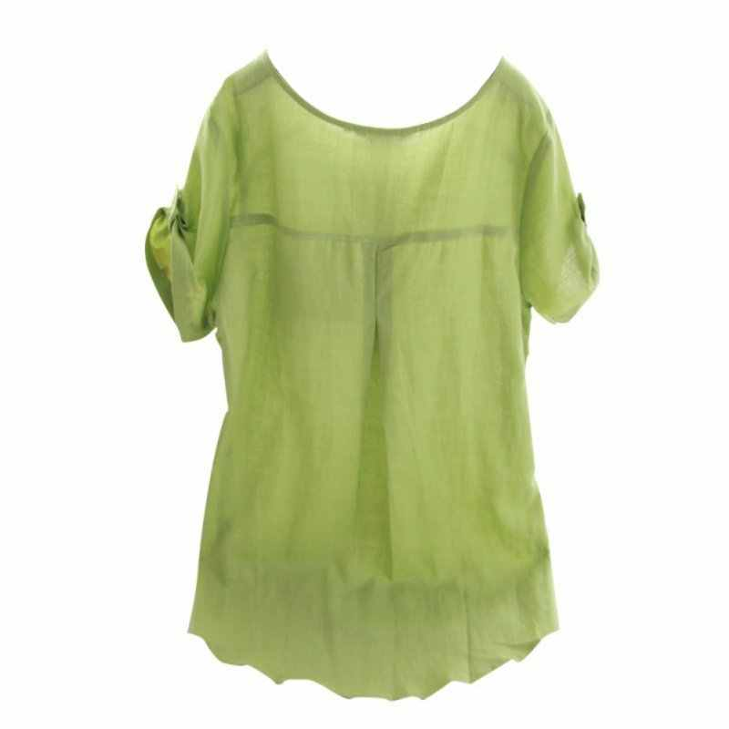 b02b3dd817 ... New Summer Casual Women Shirts Woman Clothes Short Sleeve Loose Cotton  Linen Women Tops Female Blouse ...
