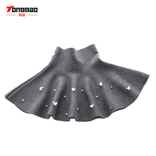 TONGMAO 2018 New Fall dan Winter Girls Fesyen Kasual Knit Skirt Kanak-kanak Pakaian Bottoming Pearl Puteri Tutu Skirts Liar