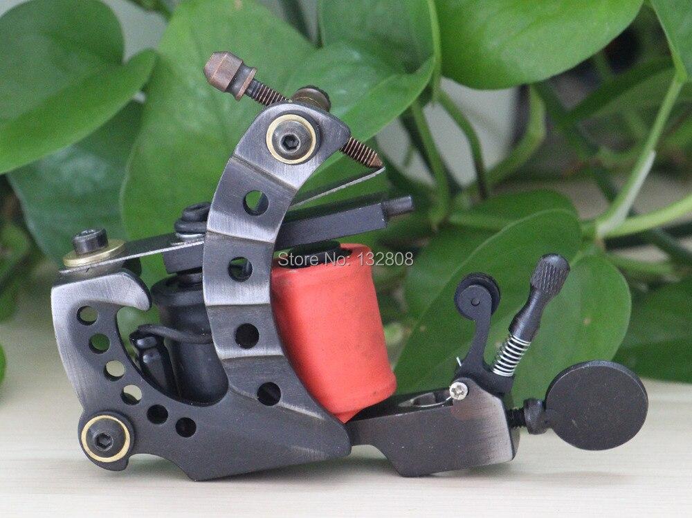 High Quality Handmade Tattoo Machine 10-Wrap Coils  Iron Cast Frame Custom  Tattoo Gun For Liner Shader Free Shipping TM-834