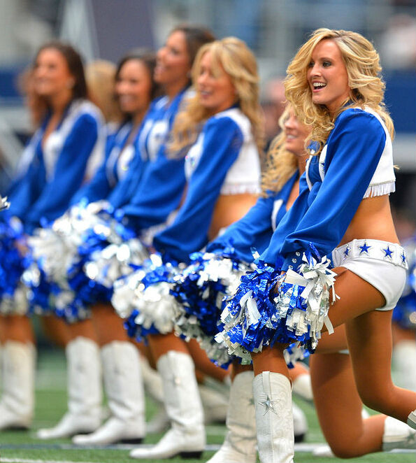 Vocole High Quality New Blueu0026White Dallas Cowboys Cheerleader Costume  High School Girl Cheerleading Uniform Cheer Fancy Dress-in Sexy Costumes  From ... 9c1c25b07