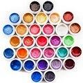 31 Colores Sólidos Con el Poder de la Perla de Uñas de Gel Uv Set Conjunto Del Arte Del Clavo Para las Extremidades Del Clavo-NA448
