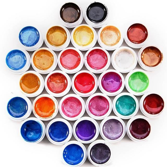 31 Solid Colors With Pearl Power Nail Uv Gel Set Nail Art Set For Nail Tips - NA448