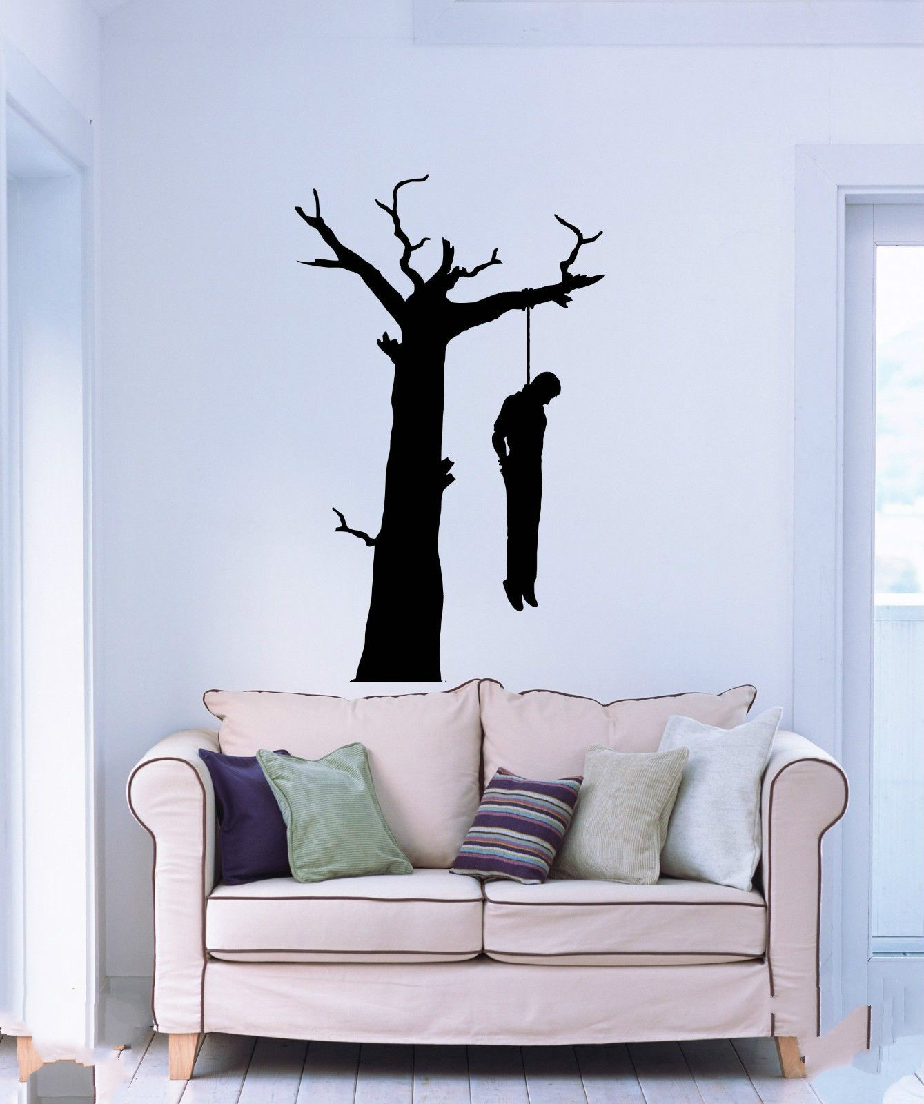 Aliexpress buy wall stickers vinyl suicide man hanging aliexpress buy wall stickers vinyl suicide man hanging himself on a tree branch horror free shipping from reliable wall sticker suppliers on love amipublicfo Gallery
