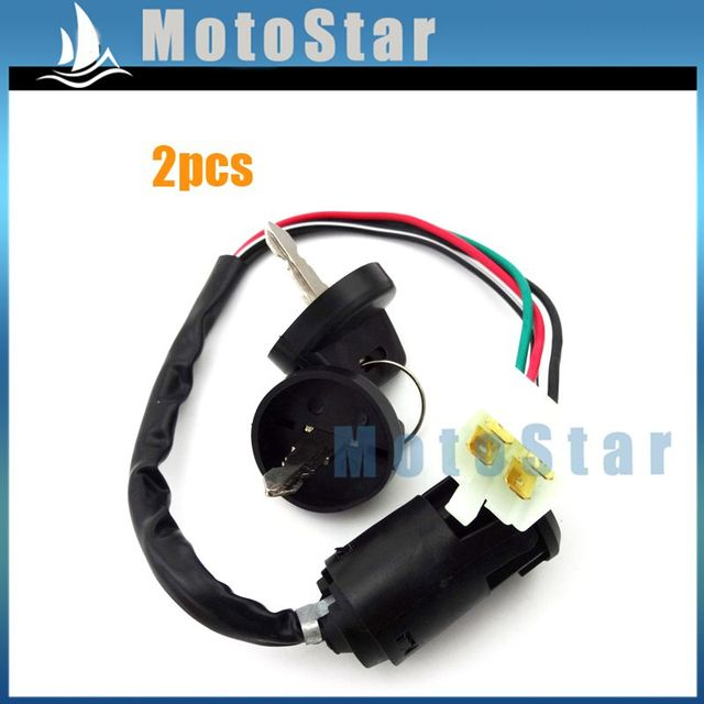 New star atv 90cc wiring circuit connection diagram 2x ignition key switch 4 wire for 50cc 70cc 90cc 110cc 125cc go kart rh aliexpress com 90cc atv wiring diagram 125cc atv asfbconference2016 Image collections