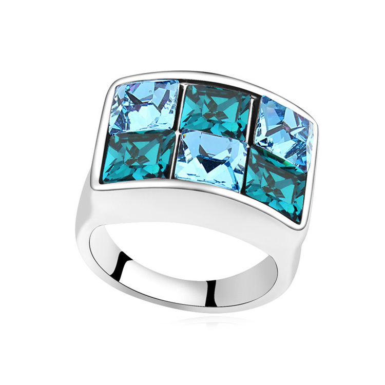 Special Rings Made with Austria Elements Crystal Cubic Rings for Men Wedding Engagement Accessories