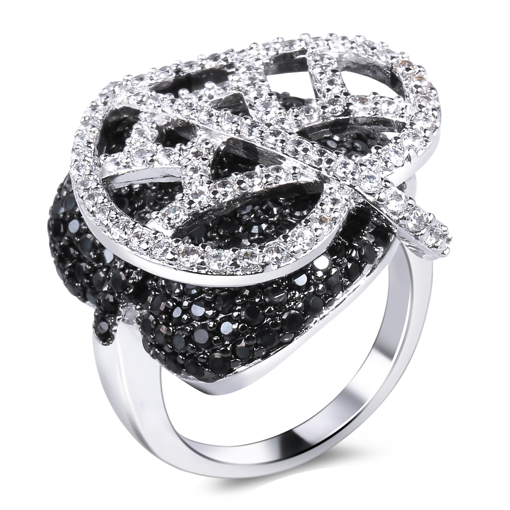 Beydodo Womens Gold Plated Earrings Stud Prongs White Cubic Ziconia Earrings Round Shape Beydodo Jewelry