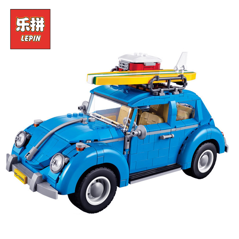 lepin Technic 10252 Creator City Classical Travel Car DIY Set Model Building Blocks Bricks Children Christmas Toys lepin 21003 lepin 21003 series city car beetle model building blocks blue technic children lepins toys gift clone 10252