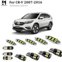 עבור הונדה crv crv Shinman 10pcs X שגיאה חינם LED הפנים חבילת ערכת אור עבור אביזרים הונדה CRV CRV 2007-2015 (2)