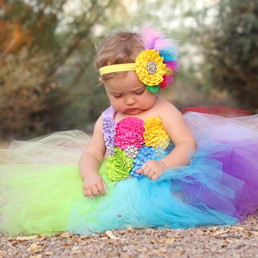 Платье цвета радуги фото