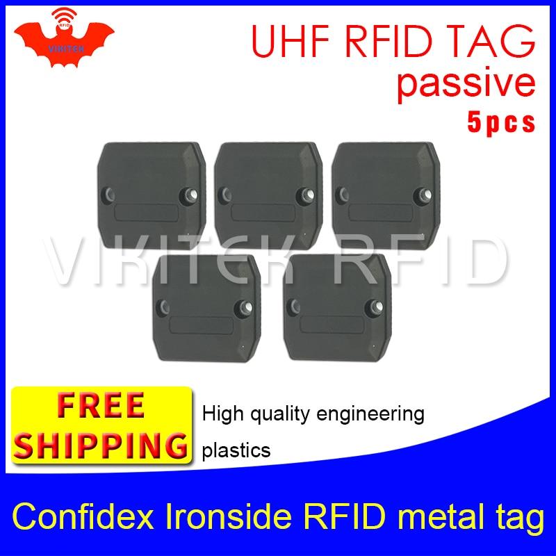 UHF RFID metal tag confidex ironside 915m 868mhz Impinj Monza4QT EPC 5pcs free shipping durable ABS smart card passive RFID tags