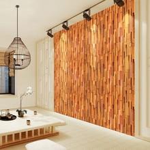 Naklejki pokojowe w stylu Retro wymienny naklejka naklejka ścienna ozdobna dekoracja pokoju domowego 3D tapeta wystrój pokoju Dropshipping
