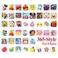 200 Листов 18.5*7.2 СМ Мультфильм Детские Наклейки Игрушки Pegatinas Emoji ПВХ Стикер Альбом для Детей Подарок Детям