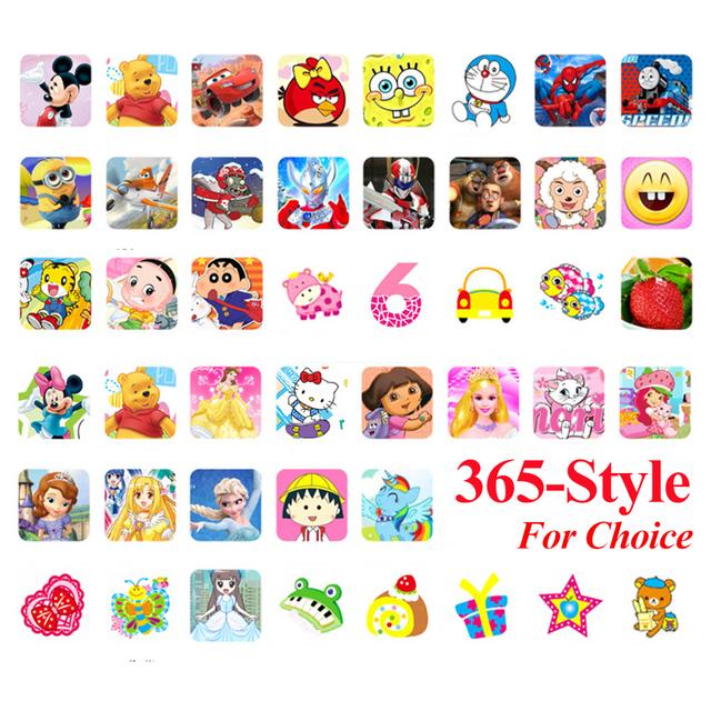 200 Hojas 18.5*7.2 CM Juguetes de Dibujos Animados Para Niños Pegatinas Pegatinas Emoji PVC Etiqueta Del Libro de Recuerdos para Los Niños Regalo de Los Niños