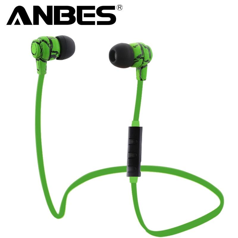 ANBES Hörlurar Fone de ouvido Bluetooth som fio Bluetooth Hörlurar Sport Hörlurar Med Mic Auriculares För Samsung Sony LG