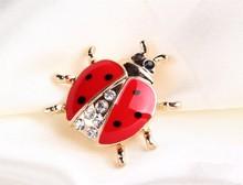 Lady Bug Rhinestone Brooch