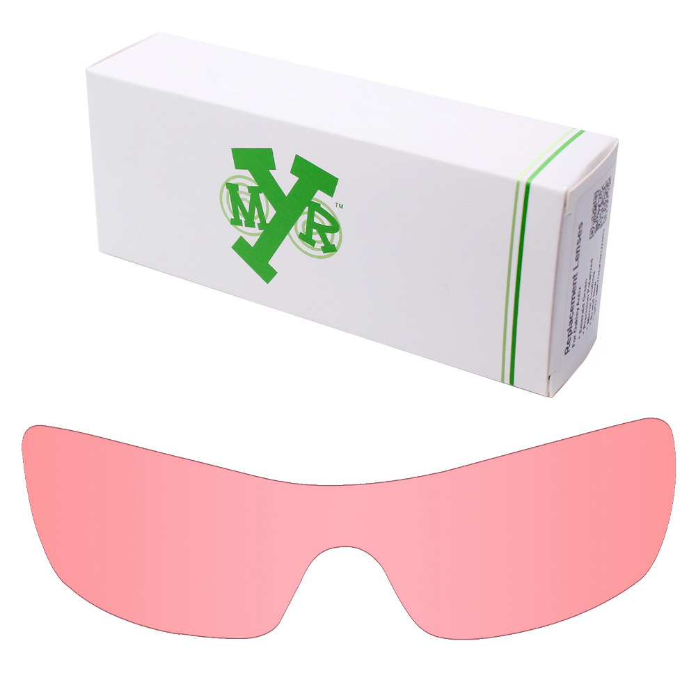 Mryok Anti-Scratch Replacement Lenses for Oakley Batwolf Sunglasses HD Pink 8731311b2792