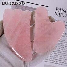 2Pcs/Set Facial Wands Crystal Rose Quartz GUASHA Tools Natural Jade Massage Body Health