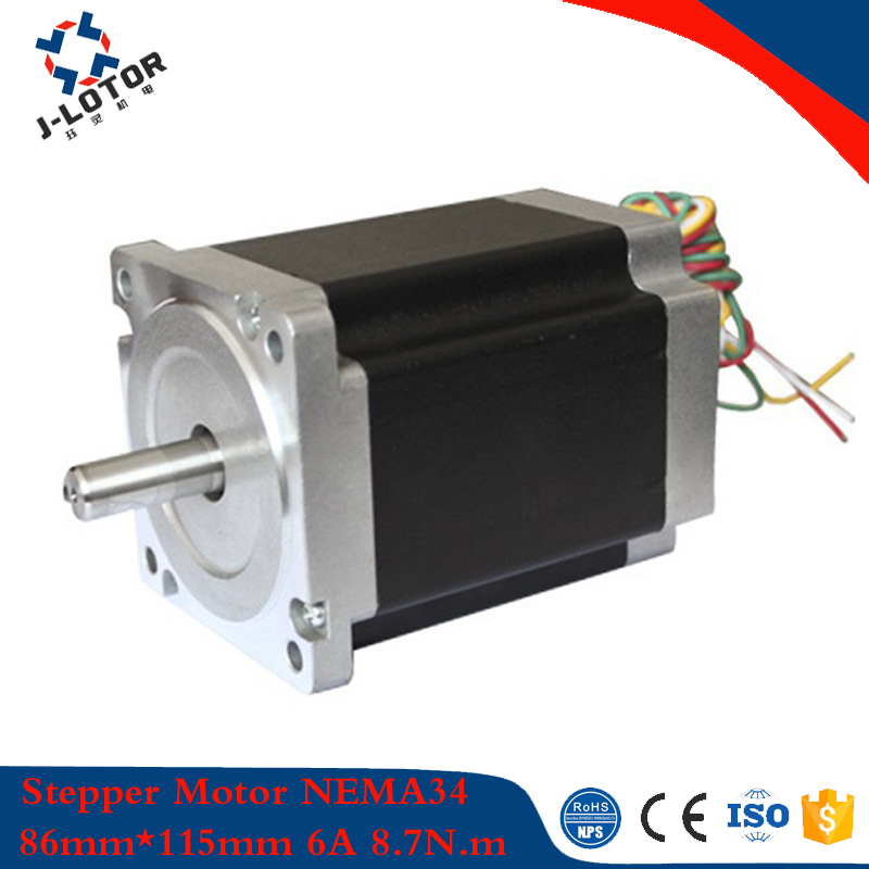 купить JL86HS115-6004 1.8 gegree 86mm*115mm 2phase Hybrid Stepper Motor NEMA34 6A 8.7N.m 4 wires High Torque Step Motor по цене 2923.89 рублей