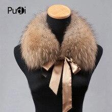 Pudi CLR009 женский меховой воротник натуральный зимний мех енота шарф шарфы накидка на шею теплая шаль воротник