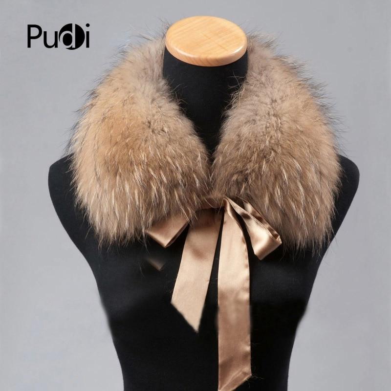 Pudi CLR009 the new women fur collar Genuine Winter Raccoon Fur Scarf Scarves Wrap Neck Warmer Shawl Collar