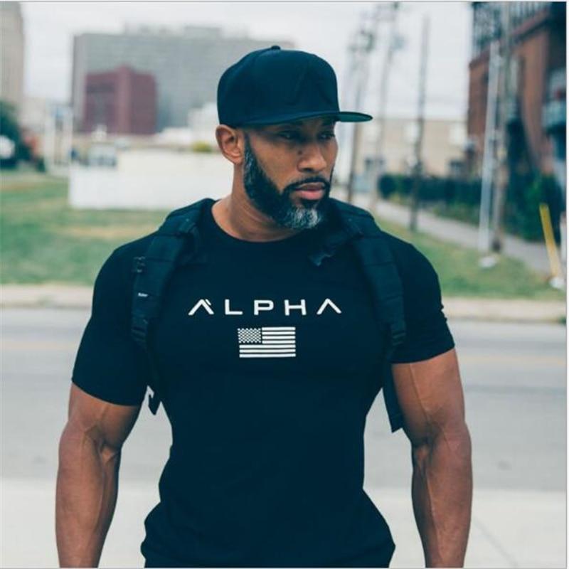 2018 New Brand clothing Gyms fashion   t  -  shirt   mens fitness homme   t     shirt   men crossfitSummer Crime Short Sleeve   T  -  shirt   Slim-type