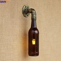 Industrial Lâmpada De Parede Arandela Luminárias Com Garrafa de Vidro Relógio de Bolso lâmpada Tubulação de Água loft Edison Luz Luzes LED 220 v|industrial wall sconce|wall sconce|wall sconce lamp -