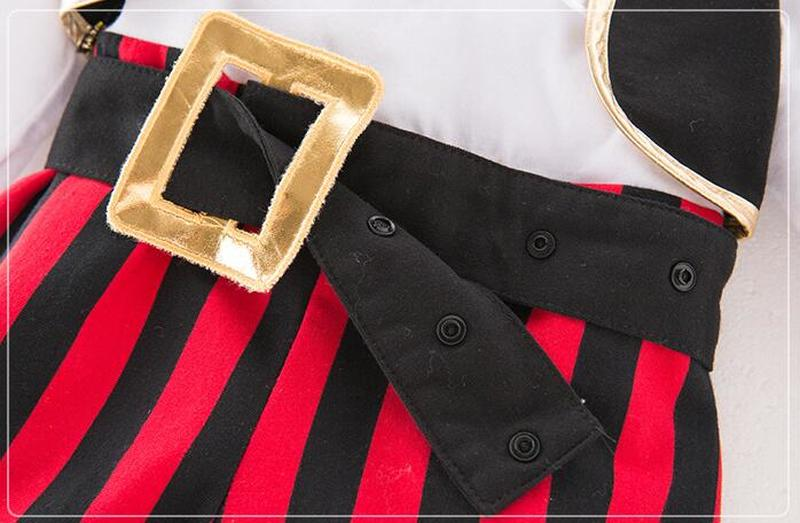 Infant Clothing Baby Outfit Lodumani Captain Pirate Style Long Sleeve Bodysuit&hat&belt&vest Newborn Toddler Boy Clothes Costume