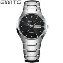 2016 Popular Mens Watches Top Brand Tungsten Steel Band Date Day Business Men Quartz Watch Clock Relogio Masculino Reloj Hombre