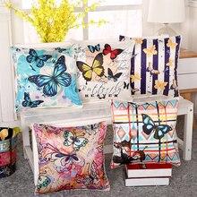 45 cm * 45 cm Color del patrón de mariposa de seda de Imitación de Alta calidad sofá funda de almohada fundas de almohada funda de cojín decorativo almohadas