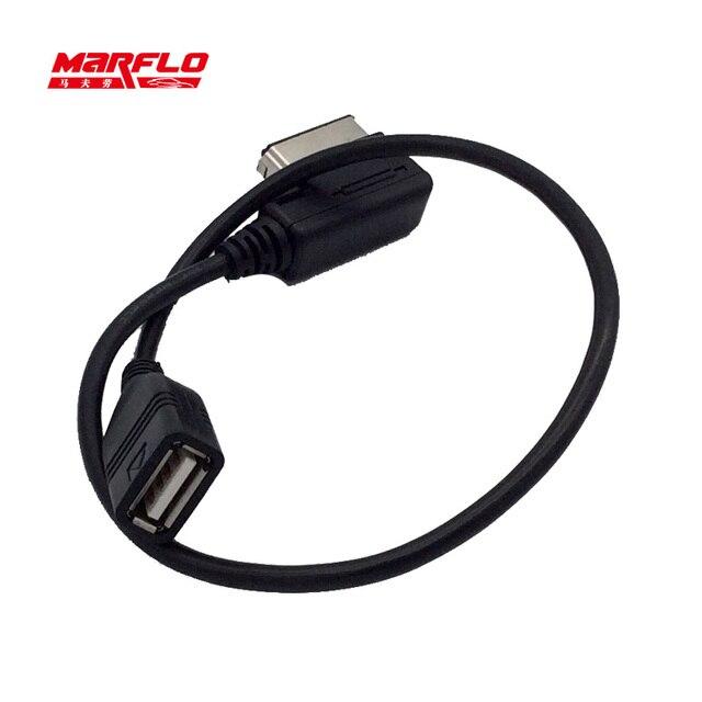 Marflo Usb AMI Cable Audi Aux Audio Interface Adaptor USB Cable Car - Audi ami cable