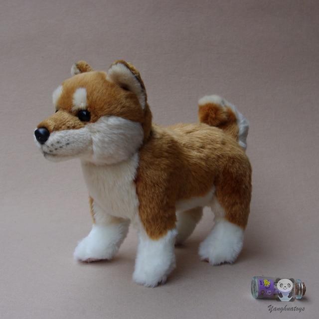 Stuffed Animals Toy Akita  Dog  Doll  Kids Gifts  Toys Plush Simulation Stand Dogs