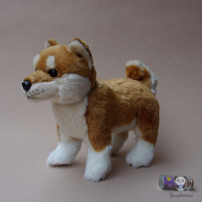 Stuffed Animals Toy Akita Dog Doll Kids Gifts Toys Plush Simulation Stand Dogs