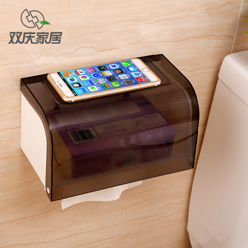 Waterproof Toilet Paper Holder Tissue box Suction cup Rack hole-digging pumping paper SQ-5099