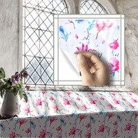 Funlife 소나무 나무 벽지 욕실 방수 벽 스티커