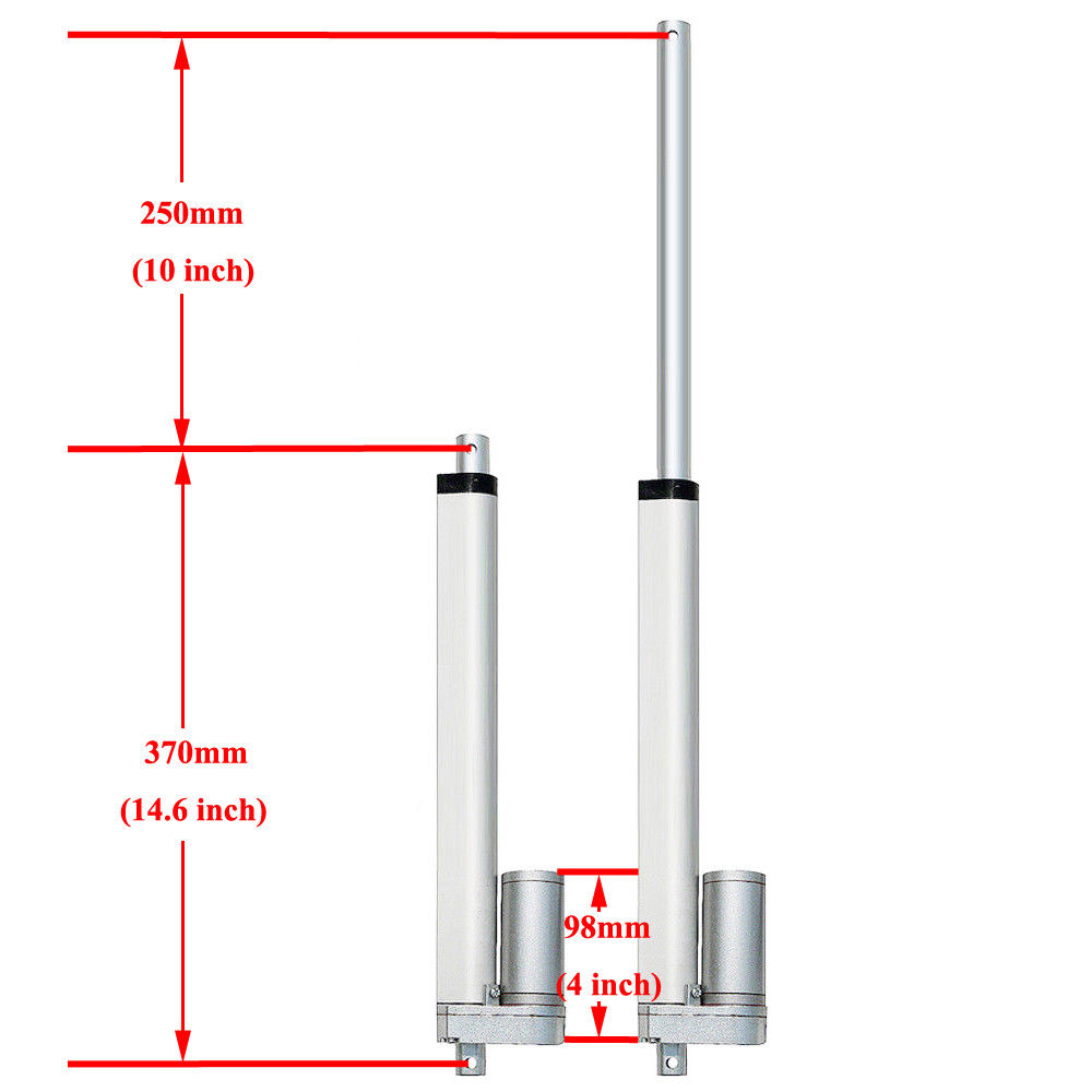 250mm 10inch Stroke Heavy duty DC 12V 1000N For Solar Tracking System mini linear actuator