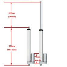 250 мм/10 дюймов ход Heavy duty DC 12V 1000N для солнечной энергии с двумя осями высокой точности Системы мини линейный привод