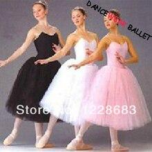 Saia de balé de tule tutu vestido, saia lyrical de dança rosa preto branco cisne lago