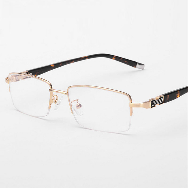 abd5a99074 Vazrobe Gold Rimmed Glasses Frame Men Half Rim Eyeglasses Frames for Male  Prescription Eyeglass Custom-