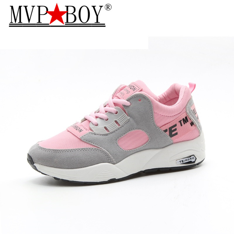 MVP BOY 2018 Women Sneakers Breathable Sport Shoe Light Sneakers For Outdoor Comfortable Woman Shoes Size 35 40