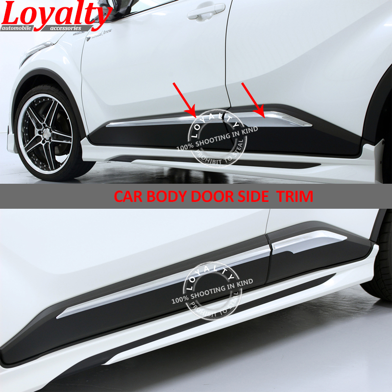 Auto Replacement Parts For Toyota Chr C-hr 2016-2018 Abs Carbon Fiber Side Door Body Molding Cover Trim Side Door Protective Trim Accessories Parts