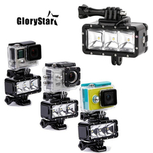 GloryStar фонарик лампа LED-лампа с креплением для видеокамеры для подводной съемки и дайвинга для GoPro SJCAM SJ4000 H9 H9R xiaomi yi OR007