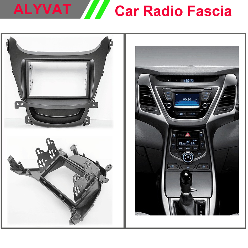 Car Auto Stereo Radio CD DVD installation frame Double Din in Dash Facia Fascia Kit for Elantra (MD), Avante (MD) ityaguy fascia for ford ranger 2011 stereo facia frame panel dash mount kit adapter trim