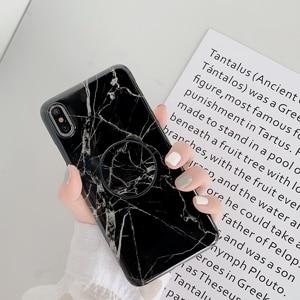 Image 5 - Con Piega Titolare Lucido Marmo Cassa Del Telefono Per il iPhone 7 6 6S 8 Più di 12 Mini 11 Pro Copertura X XS MAX XR 8 Più se 2 Casi Coque Shell