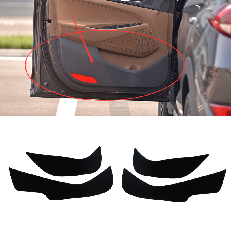 Car - Styling 2 colors Protector Side Edge Protection Pad Protected Anti-kick Door Mats Cover Hyundai Tucson 2015 2016 Elegant Decoration store