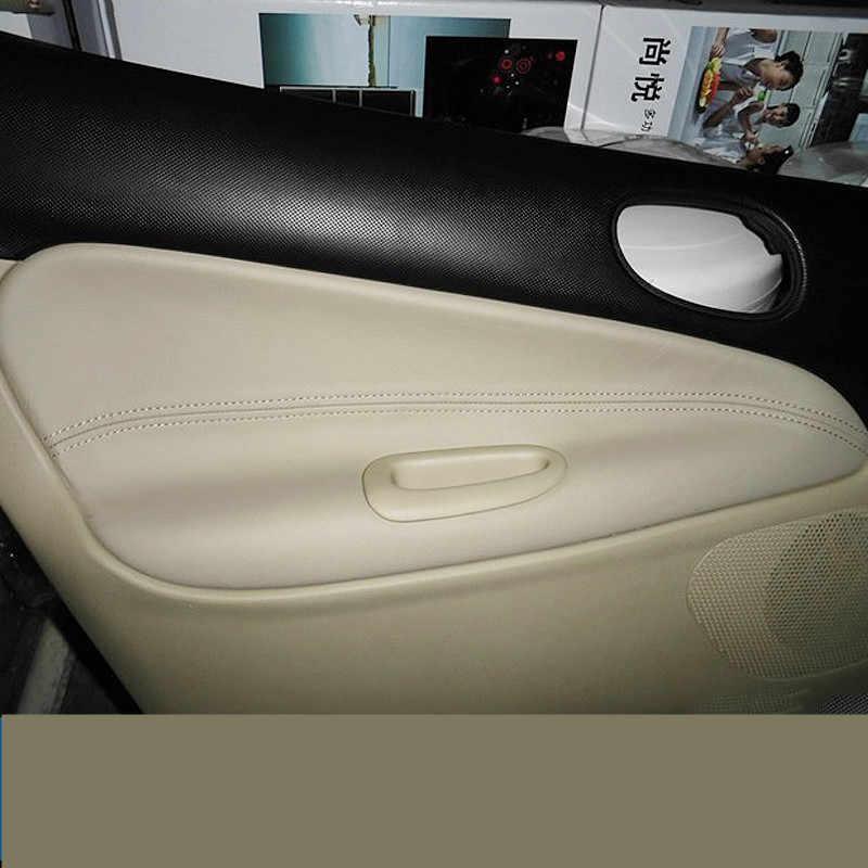 4ピース/セットドアプレート飾ら革保護カバー用プジョー206 207/シトロエンc2 Z2EA1026