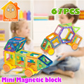 Minitudou 67 unids diseñador magnética juguetes para niñas y niños educativos bloques de construcción bloques de construcción 3d diy ladrillos magnéticos