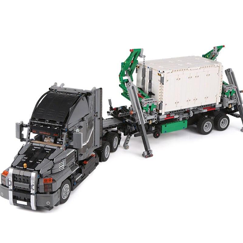 20076 تكنيك سلسلة ماك شاحنة كبيرة مجموعة متوافق مع 42078 بناء كتل الطوب لعبة تعليمية هدية الكريسماس-في حواجز من الألعاب والهوايات على  مجموعة 3
