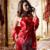 XIFENNI Marca Mulheres Pijamas De Seda De Cetim Moda Impresso Red Quatro-Conjuntos de Pijama Pedaço de Alta Qualidade Imitação de Seda Sleepwear 3398