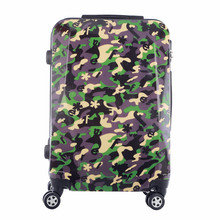 Girls Large Capacity Trolley Suitcases, Men Business Camouflage Travelling Luggage, Women Waterproof Spinner Travel Suitcase Bag